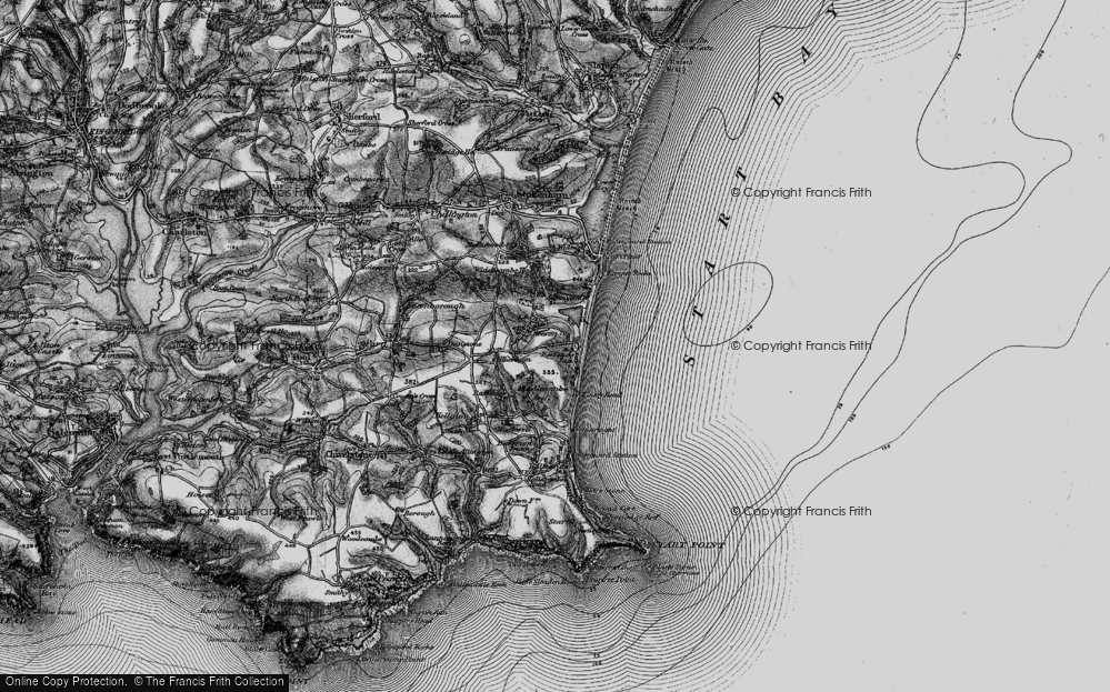 Old Map of Beesands, 1897 in 1897