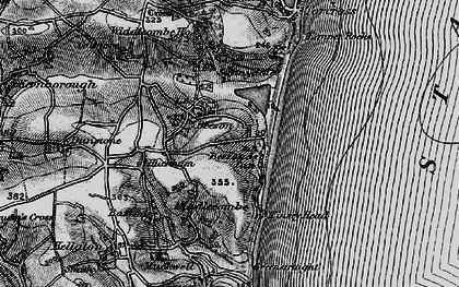 Old map of Widdicombe Ho in 1897