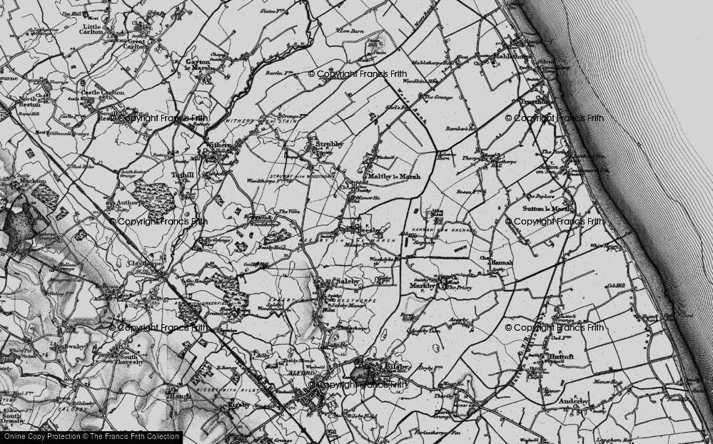 Old Map of Beesby, 1899 in 1899