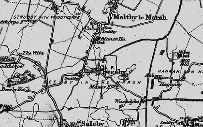 Old map of Beesby in 1899
