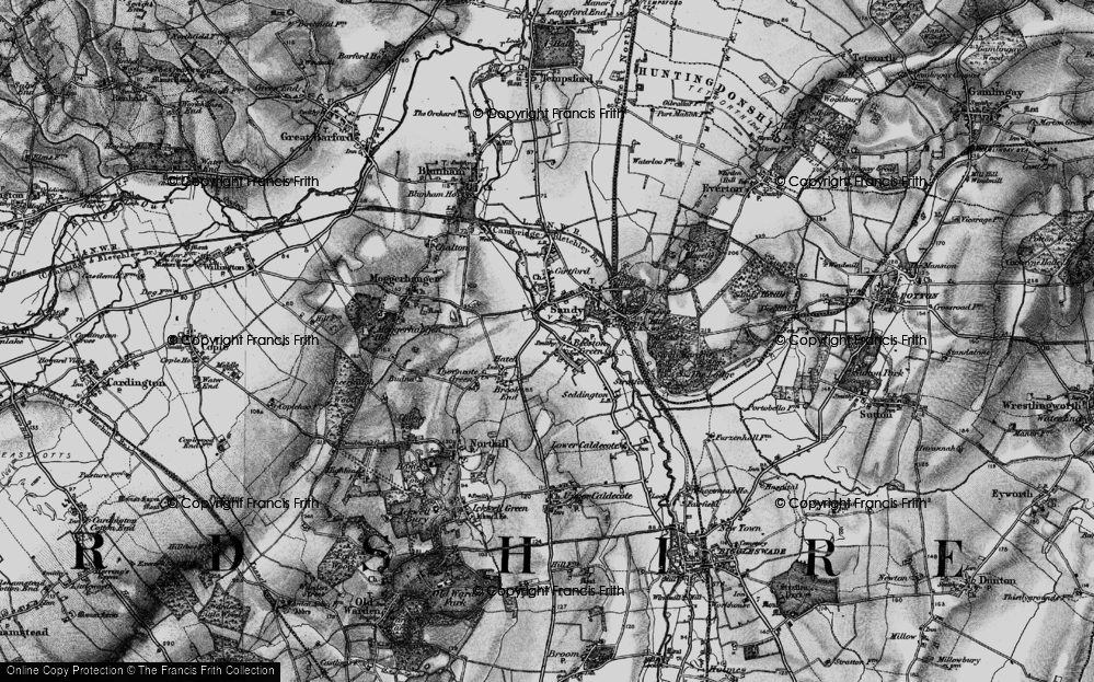 Old Map of Beeston, 1896 in 1896