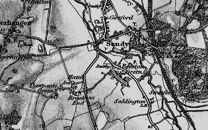 Old map of Beeston in 1896
