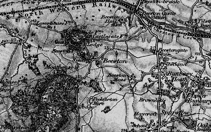 Old map of Beeston in 1897