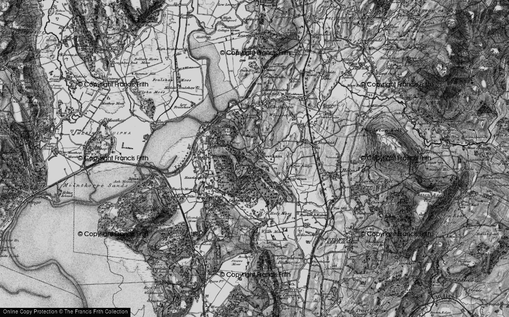 Old Map of Beetham, 1898 in 1898
