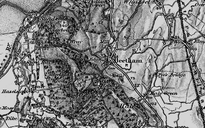 Old map of Beetham in 1898