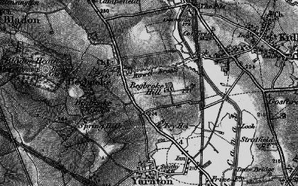 Old map of Begbroke in 1895