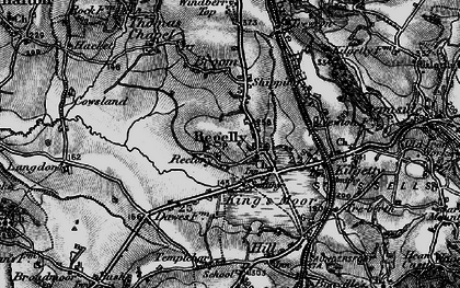 Old map of Begelly in 1898
