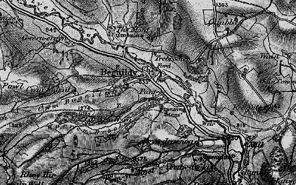Old map of Beguildy in 1899