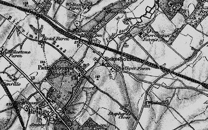 Old map of Bekesbourne in 1895