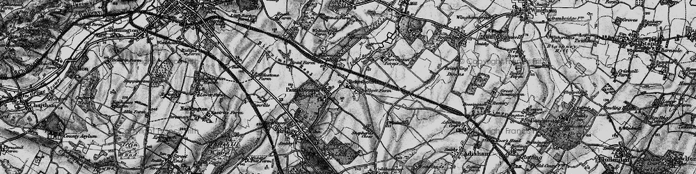 Old map of Bekesbourne in 1895