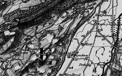 Old map of Belan in 1899