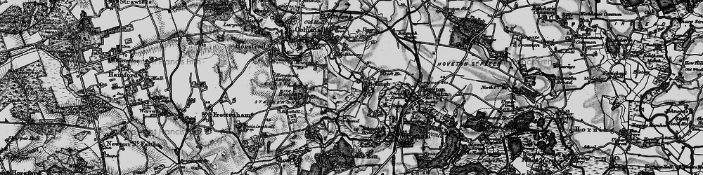 Old map of Belaugh in 1898