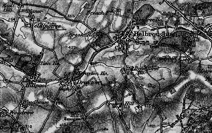 Old map of Belbroughton in 1899