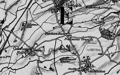 Old map of Belcher's Bar in 1895