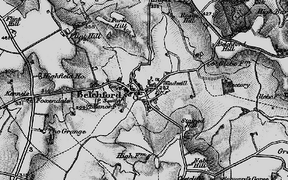 Old map of Belchford in 1899