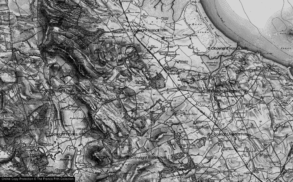 Old Map of Historic Map covering Whitelee in 1897