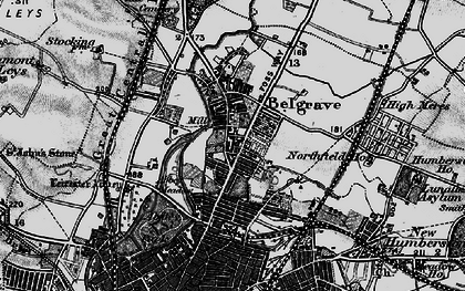 Old map of Belgrave in 1899