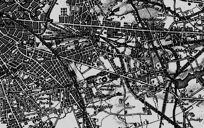 Old map of Belle Vue in 1896