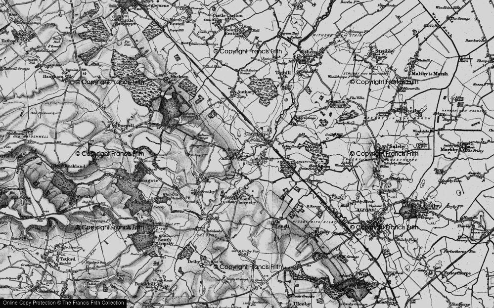 Old Map of Belleau, 1899 in 1899