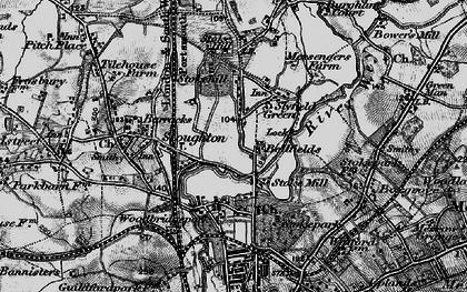 Old map of Bellfields in 1896