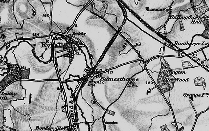 Old map of Belmesthorpe in 1895