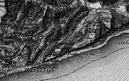 Old map of Belmont in 1895
