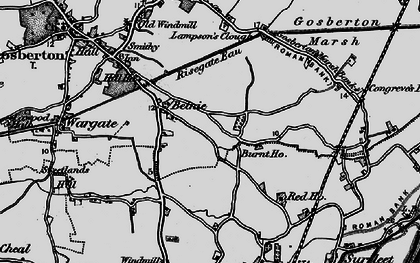 Old map of Belnie in 1898