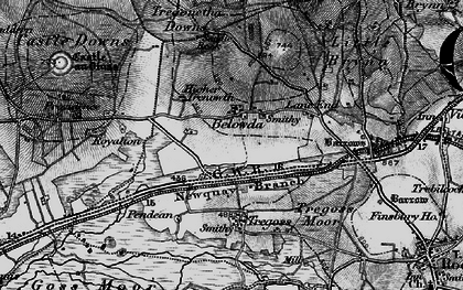 Old map of Belowda in 1895