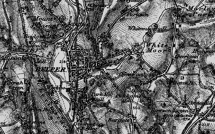 Old map of Belper in 1895