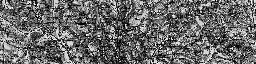 Old map of Belper in 1895