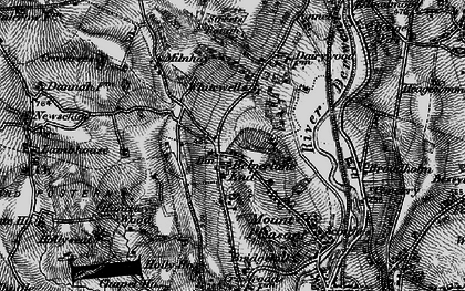 Old map of Belper Lane End in 1895