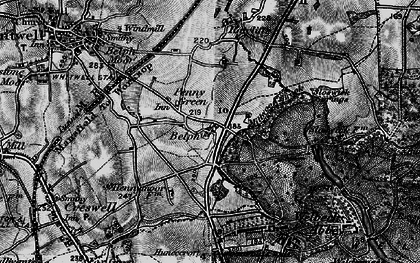 Old map of Belph in 1899