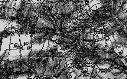 Old map of Belsize in 1896