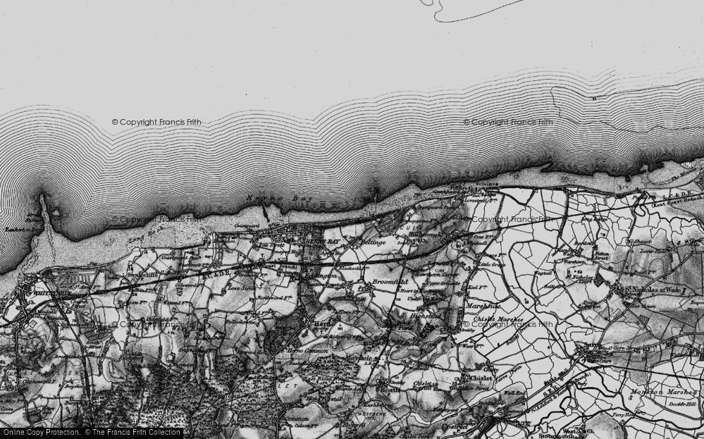 Old Map of Beltinge, 1894 in 1894