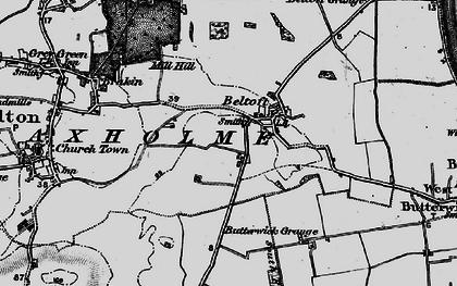 Old map of Beltoft in 1895