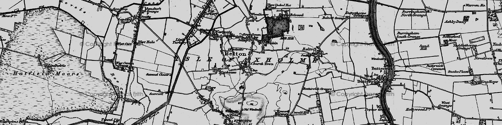 Old map of Belton in 1895