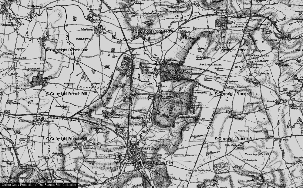 Old Map of Belton, 1895 in 1895