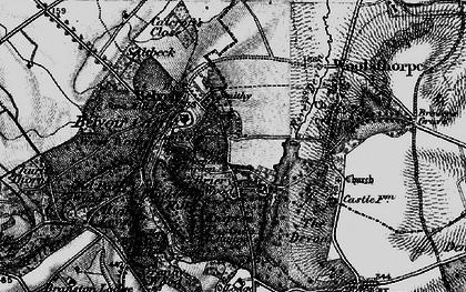 Old map of Belvoir in 1899