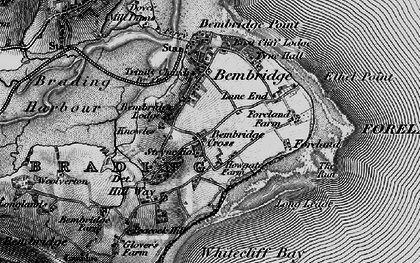 Old map of Bembridge in 1895