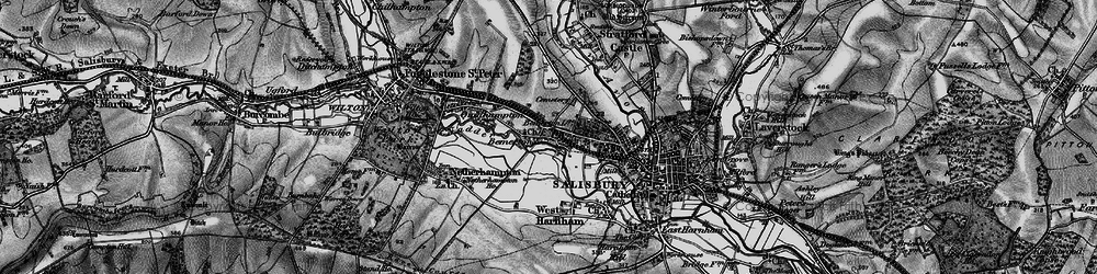 Old map of Bemerton in 1895