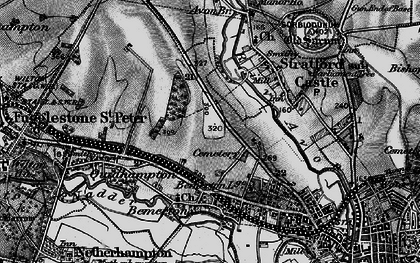 Old map of Bemerton Heath in 1895