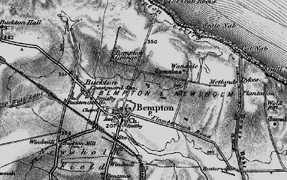 Old map of Bempton in 1897