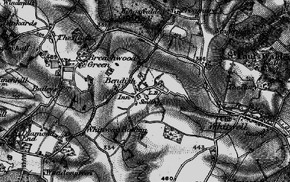 Old map of Bendish in 1896