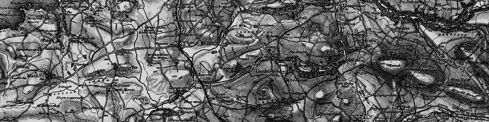Old map of Afon Cleddau in 1898