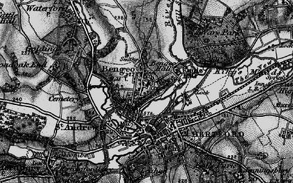 Old map of Bengeo in 1896