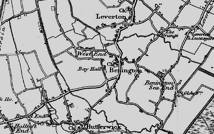 Old map of Benington in 1898