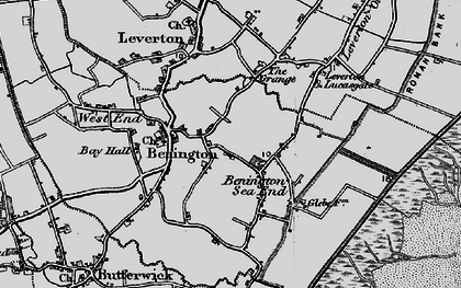 Old map of Benington Sea End in 1898