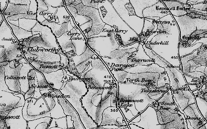Old map of Bennacott in 1895