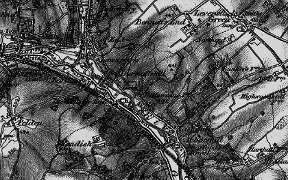 Old map of Bennetts End in 1896