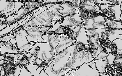 Old map of Benniworth in 1899